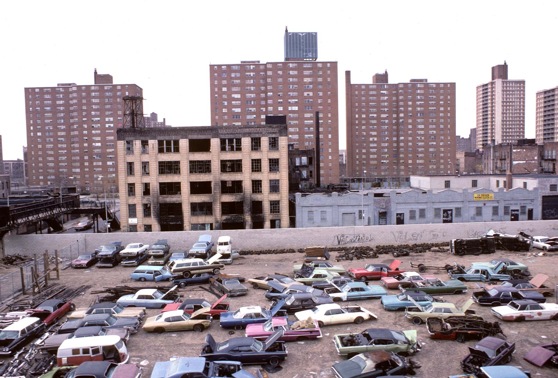 14_View of Brownsville from the Sutter Ave-DUP2. stop on the L line, Brooklyn, 1978_