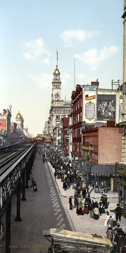 6th Ave up from 14th St., New York, New York - Year 1901