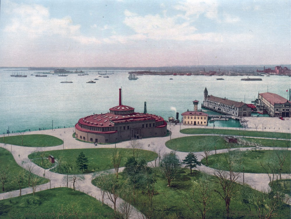 Battery Park and Upper Bay, New York, New York - Year 1900