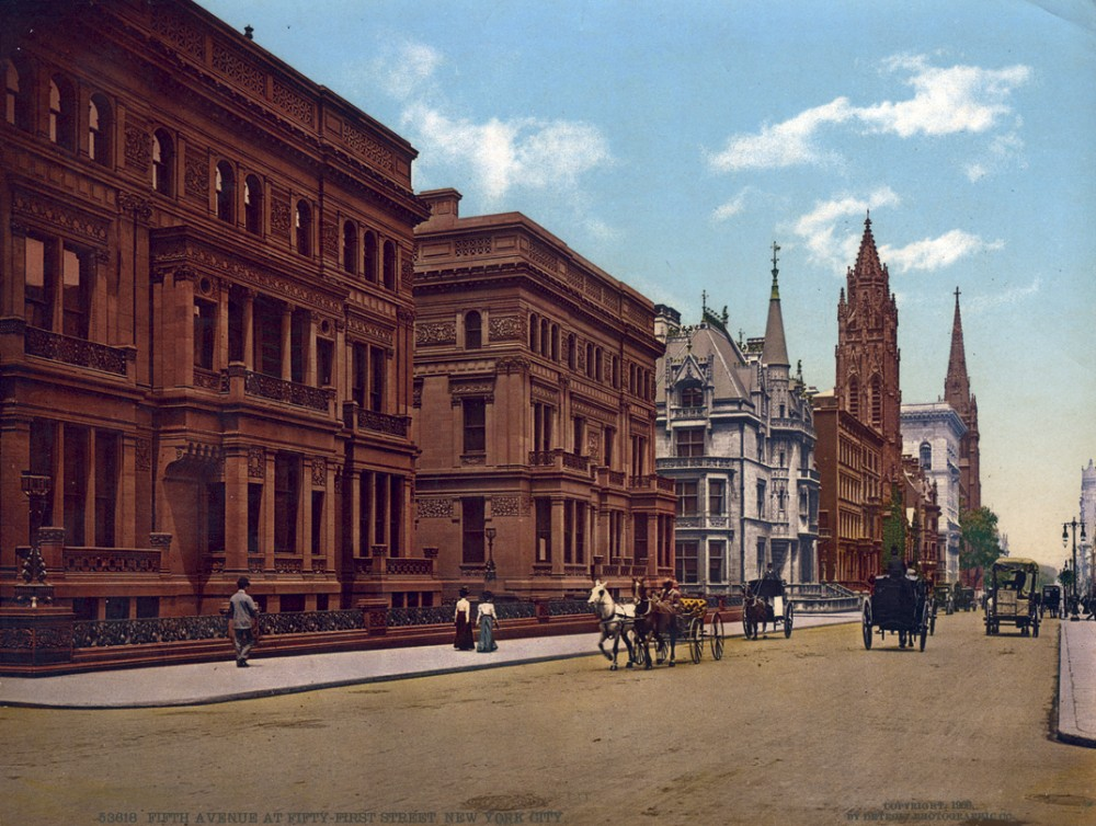 Fifth Avenue at Fifty-First Street, New York, New York - Year1900