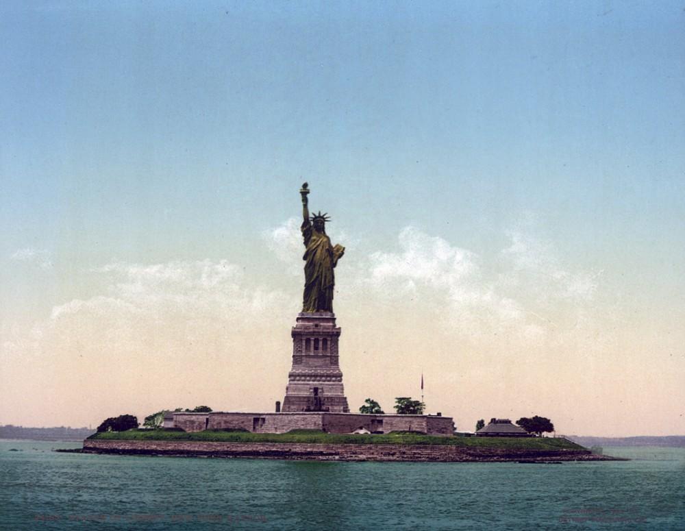Statue of Liberty, New York Harbor, New York - Year 1905