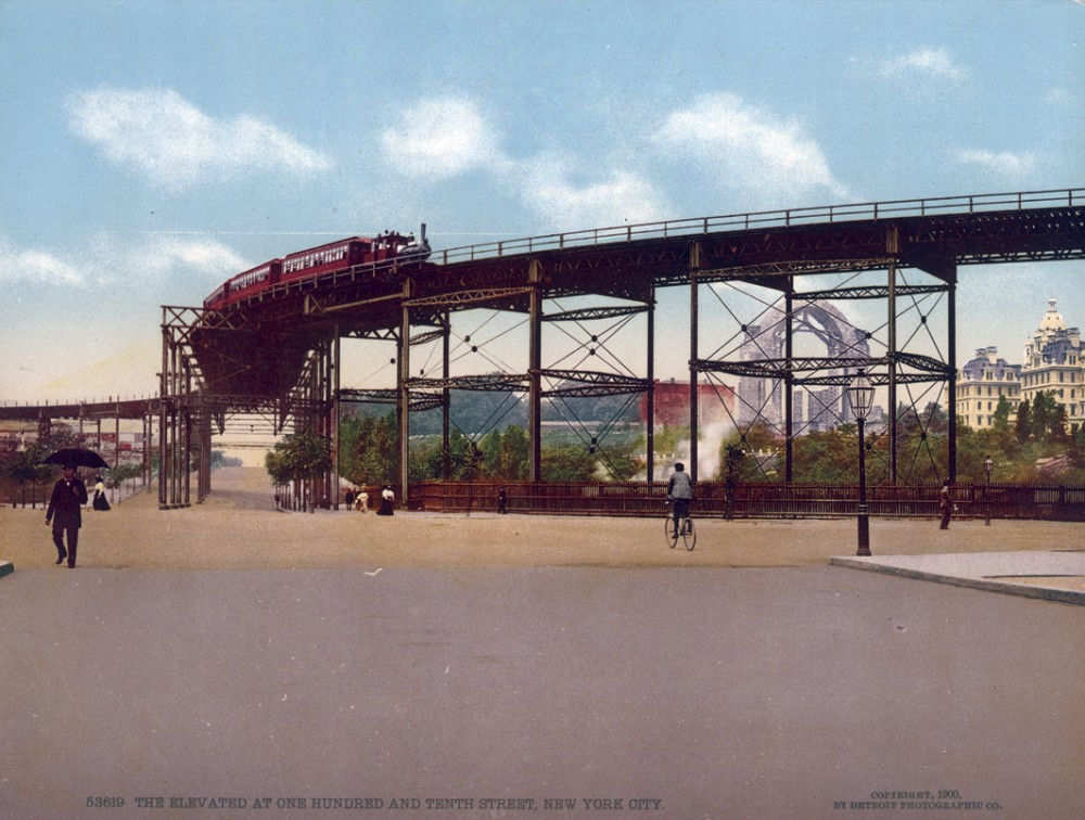 The Elevated at One Hundred and Tenth Street, New York, New York - Year 1900