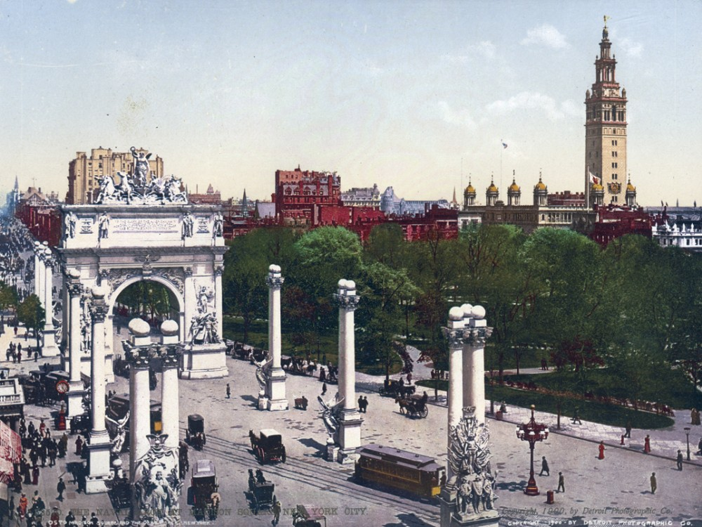The Naval Arch at Madison Square, New York, New York - Year 1900