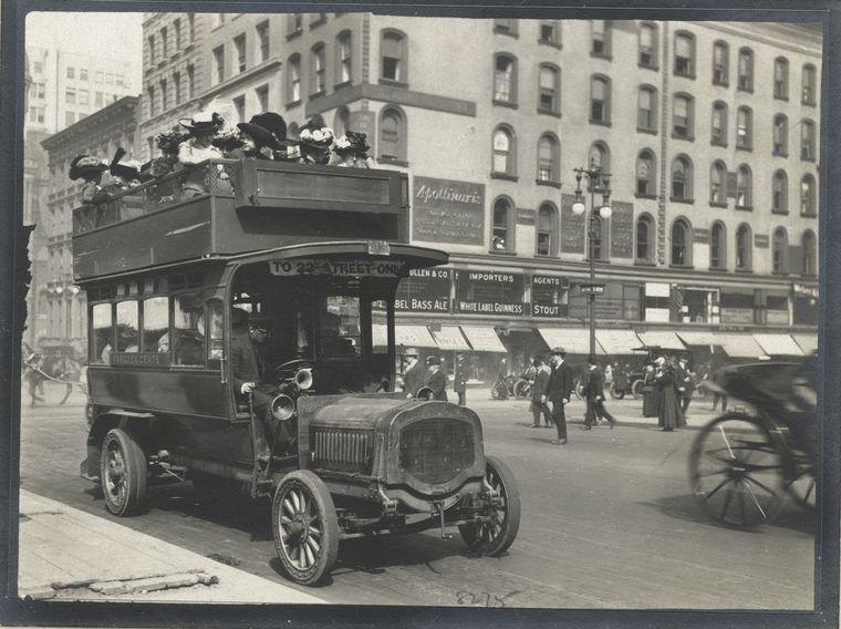 Double-decker bus. (1896)