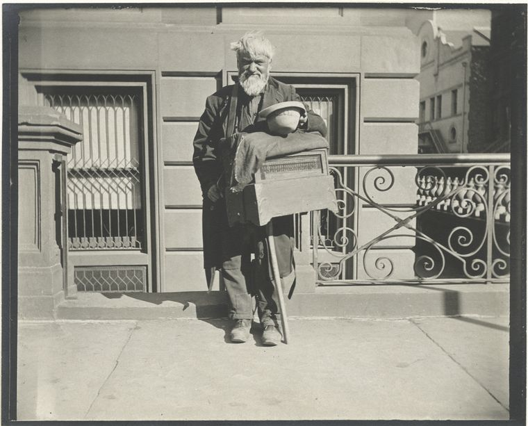 Organ grinder. (1896)