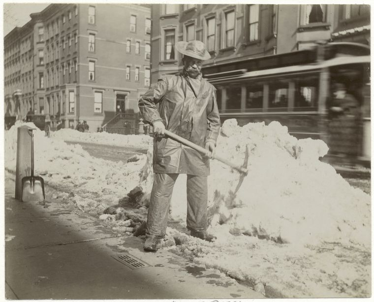 Snow removal. (1896) 2