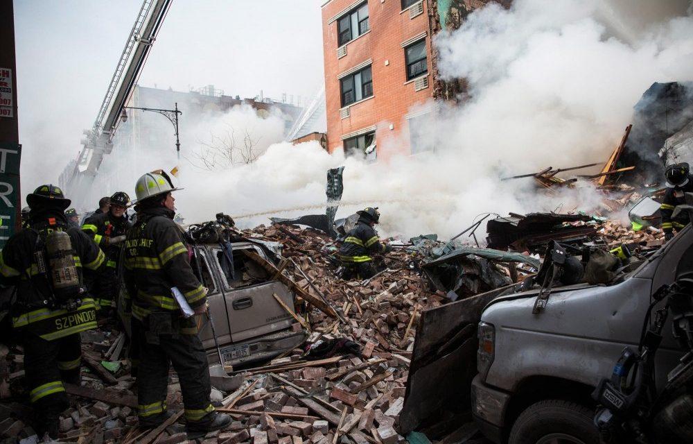 Фото с места взрыва в Гарлеме