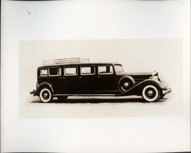 1934 Packard special 8-door bus, right side view