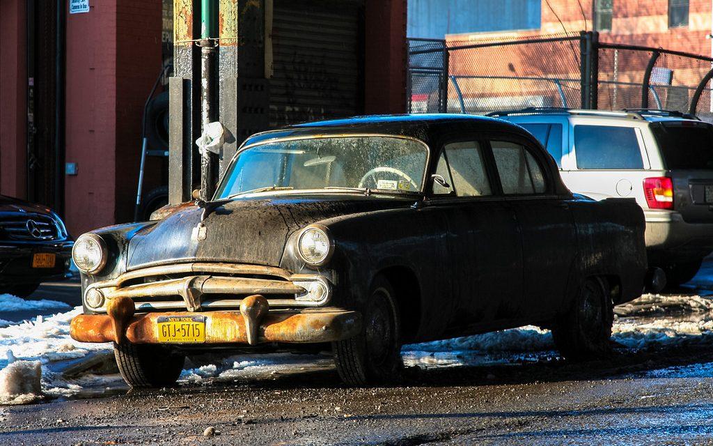 Старые автомобили на улицах Нью-Йорка – 21