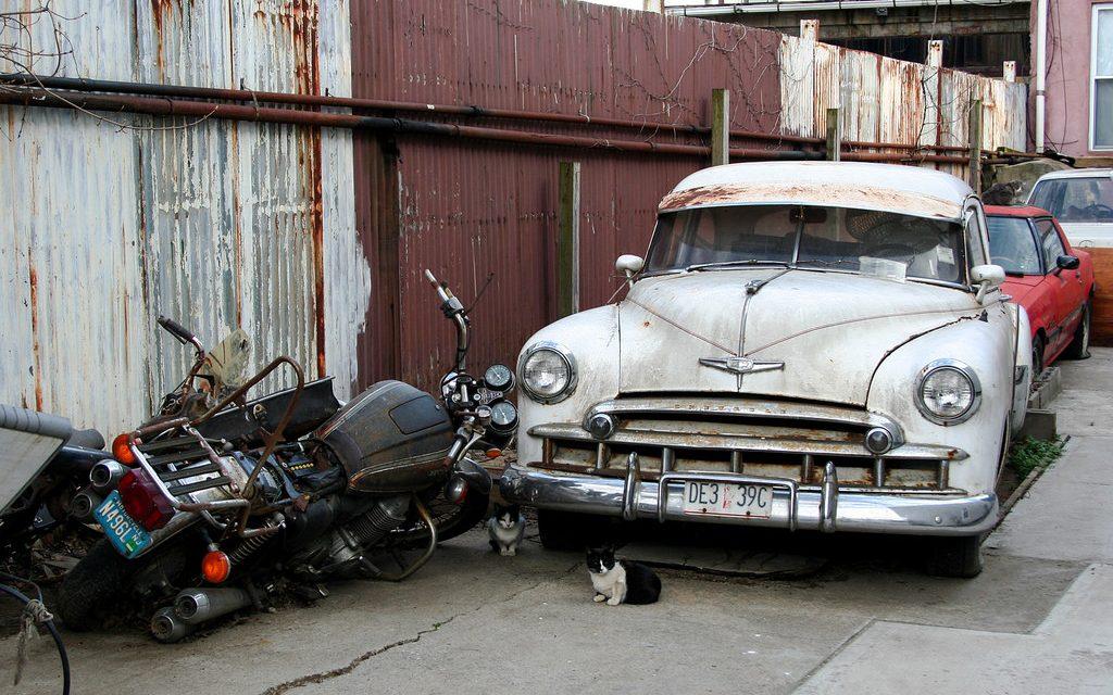 Старые автомобили на улицах Нью-Йорка – 22