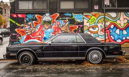 Старые автомобили на улицах Нью-Йорка – 25