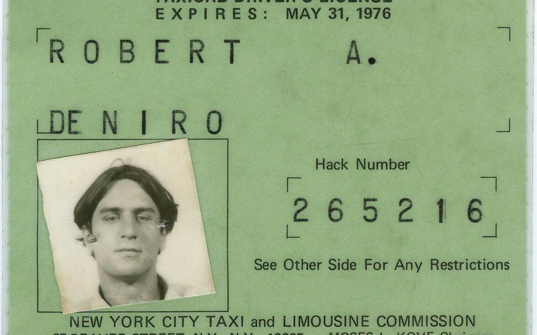 Старое фото: таксист Роберт Де Ниро