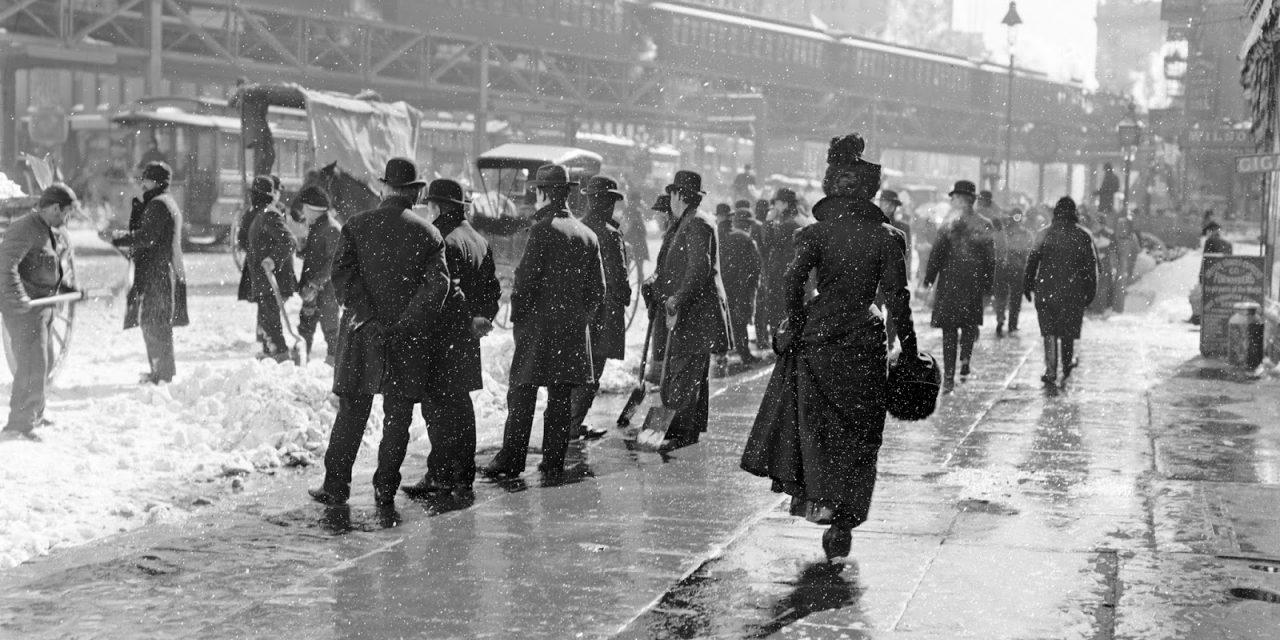 Старое фото: утро после снегопада 1899 года