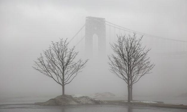 Нью-Йорк и Нью-Джерси одним туманным январским днем
