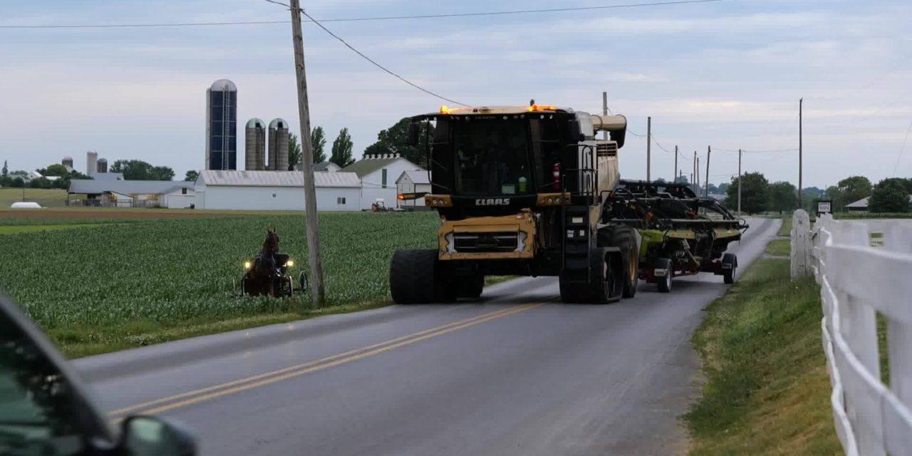 Когда 19-й век встречается на дороге с 21-м. Пенсильвания, округ Ланкастер, июнь 2020 года.