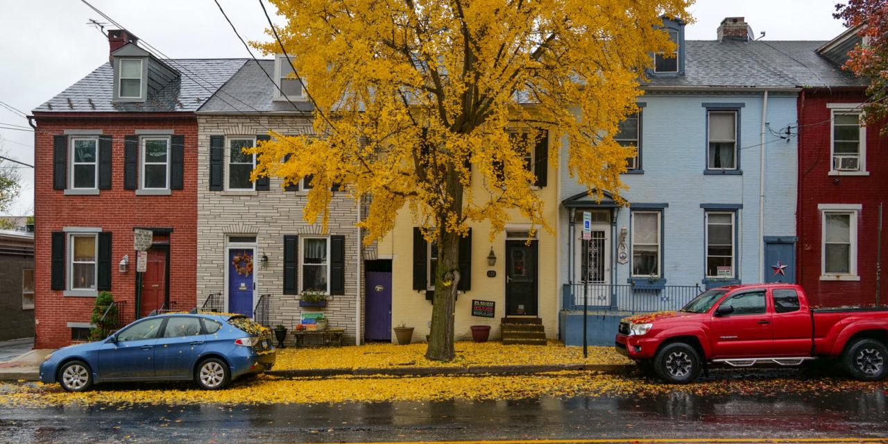 Дождливо-осенний Ланкастер, штат Пенсильвания