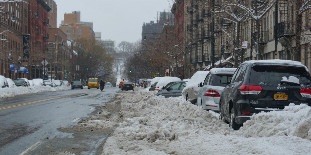 Нью-Йорк после снегопада