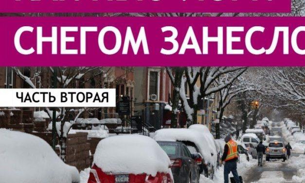 Продолжение видеоистории про то, как Нью-Йорк снегом замело
